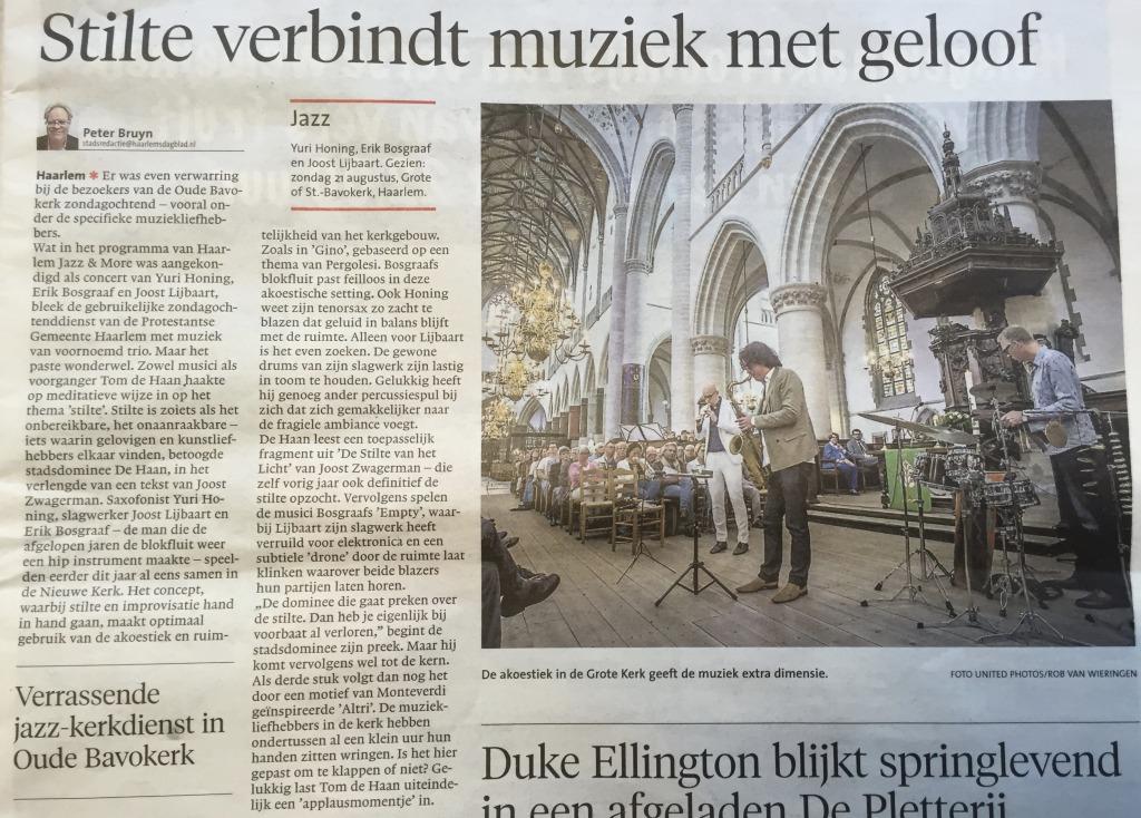 Haarlem Jazz & more Bavo 2016
